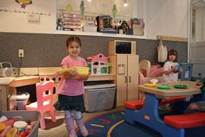 Pre-K room at Wee Care